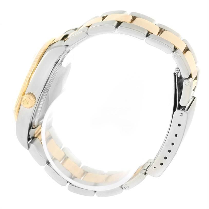 12803 Rolex Non Date Mens Steel 18k Yellow Gold Watch 14233 SwissWatchExpo