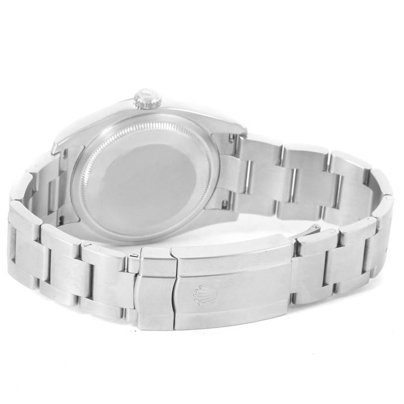 Rolex No Date Black Concentric Dial Stainless Steel Mens Watch 116000 SwissWatchExpo
