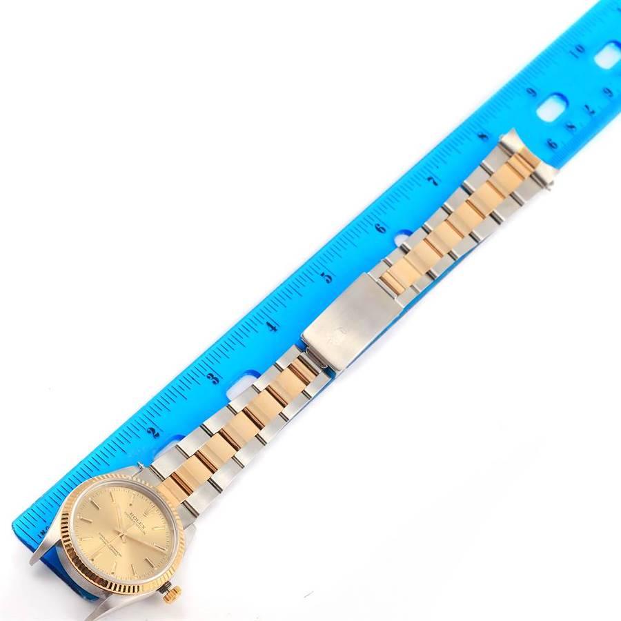 Rolex Non Date Steel 18k Yellow Gold Mens Watch 14233 Box Papers SwissWatchExpo