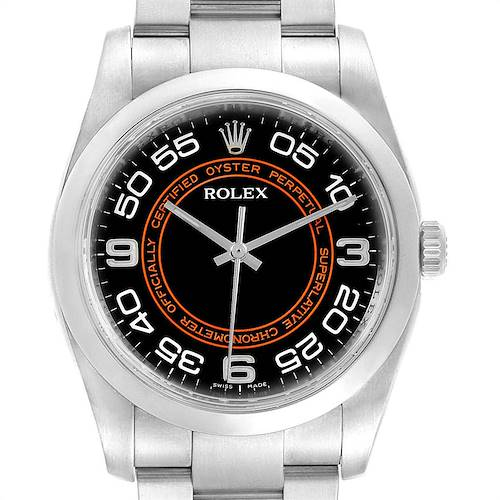 Photo of Rolex Oyster Perpetual Non Date Black Dial Steel Mens Watch 116000