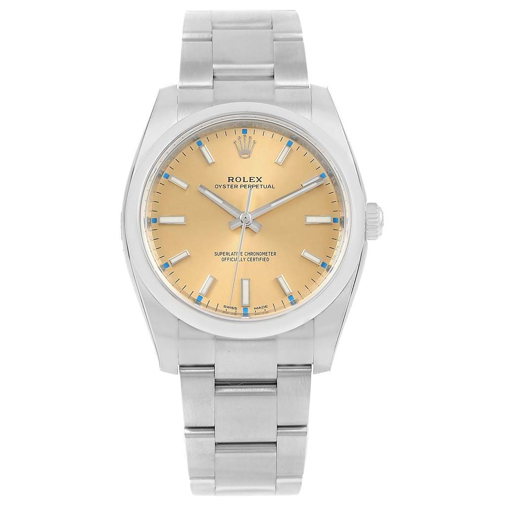 38644eaa770 ... 16347 Rolex Oyster Perpetual 36 White Grape Dial Mens Watch 116000  Unworn SwissWatchExpo ...