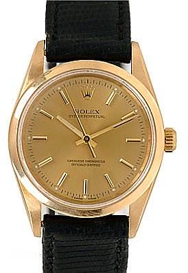 Photo of Rolex Oyster Perpetual Men's 18k Yellow Gold 14208