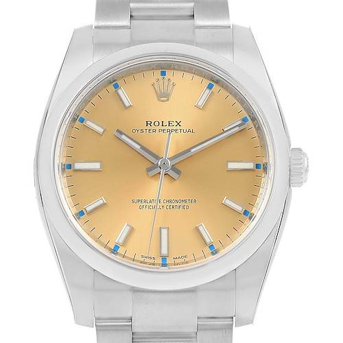 Photo of Rolex Oyster Perpetual White Grape Dial Steel Watch 114200 Unworn