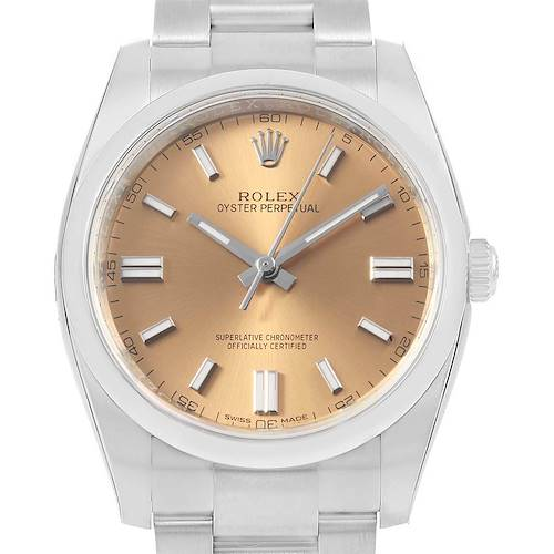 Photo of Rolex Oyster Perpetual 36 White Grape Dial Mens Watch 116000 Unworn