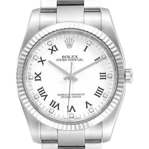Photo of Rolex Oyster Perpetual 36 Steel White Gold Diamond Watch 116034