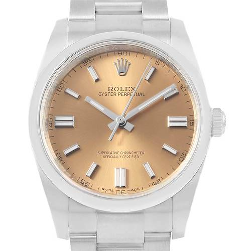 Photo of Rolex Oyster Perpetual 36 White Grape Dial Mens Watch 116000 Box Card