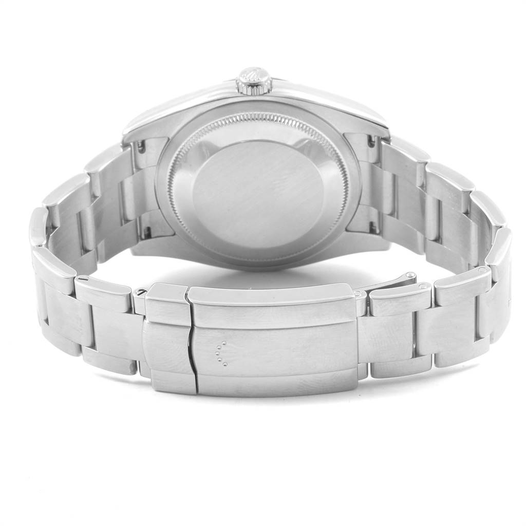 Rolex Oyster Perpetual Silver Dial Steel Mens Watch 116000 Box Papers SwissWatchExpo