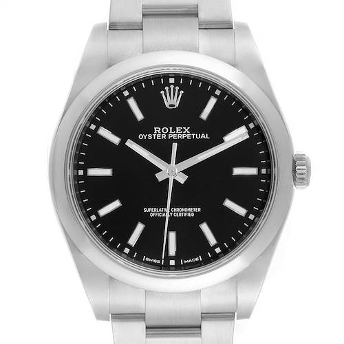 Photo of Rolex Oyster Perpetual 39 Black Dial Steel Mens Watch 114300