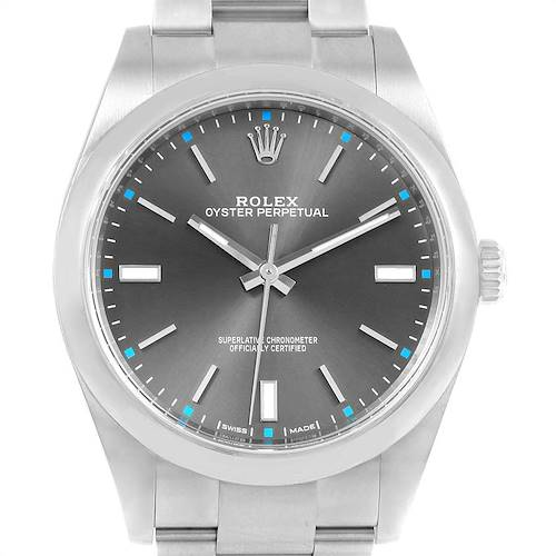 Photo of Rolex Oyster Perpetual 39 Stainless Steel Mens Watch 114300 Box