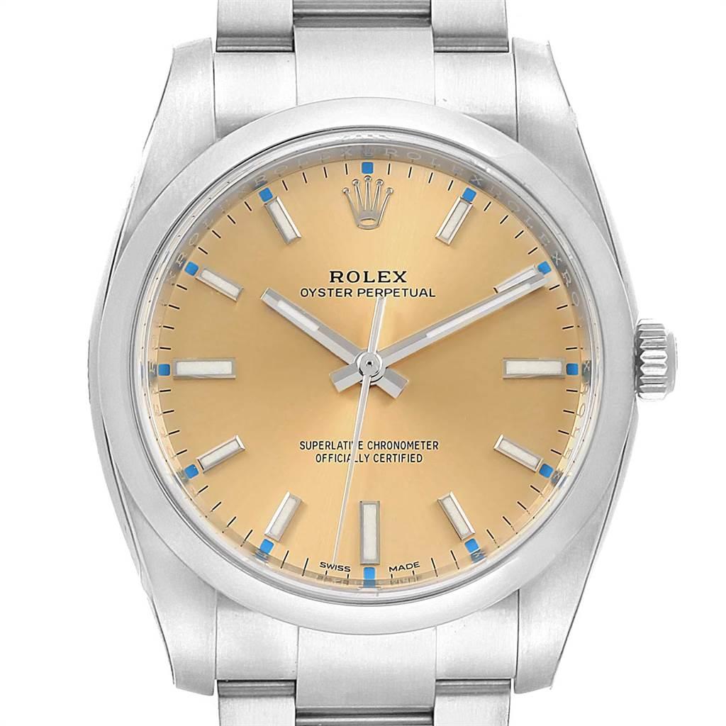 Rolex Oyster Perpetual White Grape Dial Steel Watch 114200 Unworn SwissWatchExpo