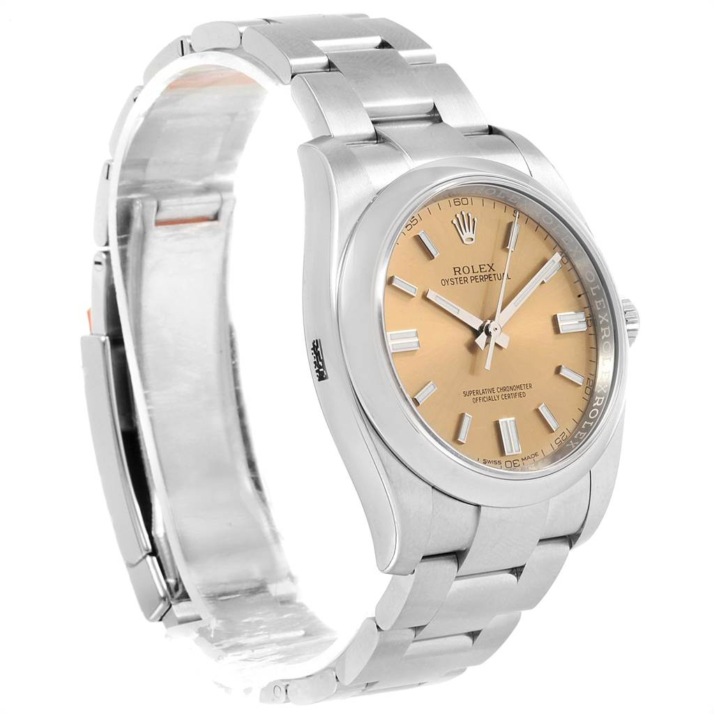 22745 Rolex Oyster Perpetual 36 White Grape Dial Mens Watch 116000 Unworn SwissWatchExpo