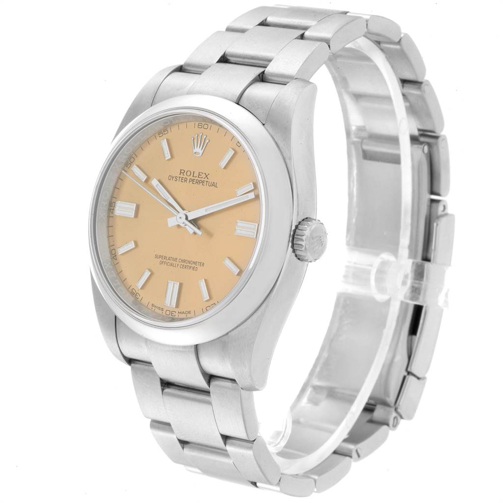 Rolex Oyster Perpetual 36 White Grape Dial Mens Watch 116000 SwissWatchExpo