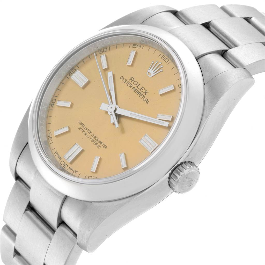 23202 Rolex Oyster Perpetual 36 White Grape Dial Mens Watch 116000 SwissWatchExpo