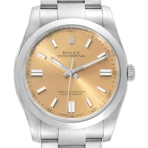 Photo of Rolex Oyster Perpetual 36 White Grape Dial Mens Watch 116000