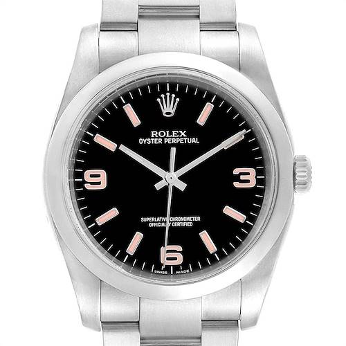 Photo of Rolex Oyster Perpetual 36 Black Dial Steel Mens Watch 116000