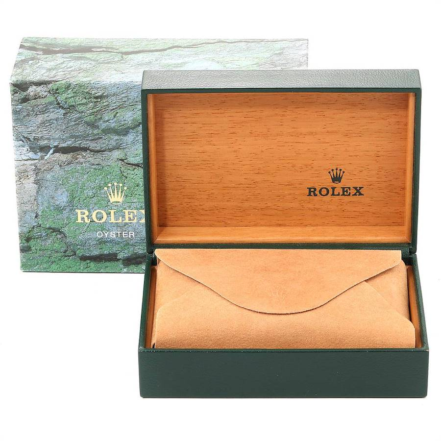 Rolex Oyster Perpetual Steel Yellow Gold Blue Dial Mens Watch 14233  SwissWatchExpo