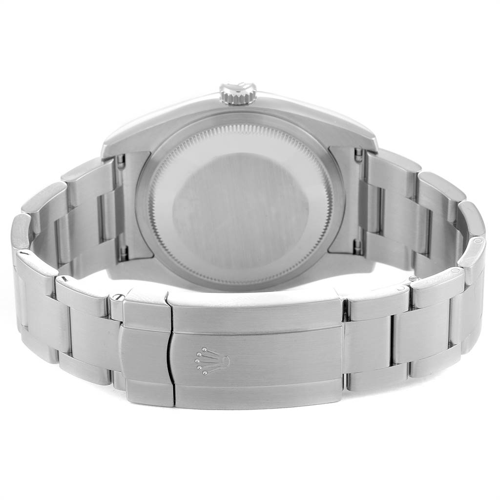 Rolex Oyster Perpetual Rhodium Dial Steel Mens Watch 116000 Box SwissWatchExpo