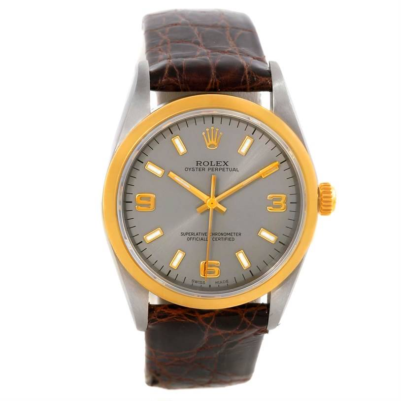 Rolex No Date Mens Steel 18k Yellow Gold Watch 14203 SwissWatchExpo