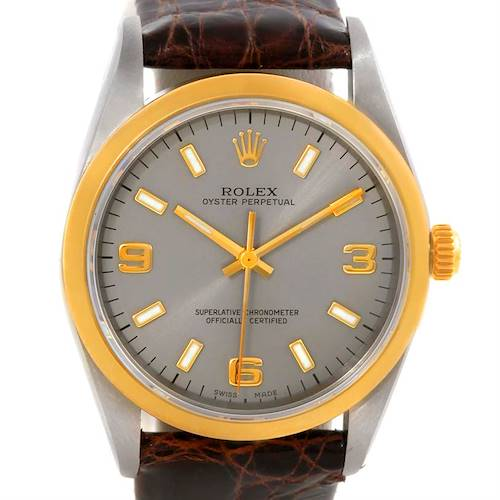 Photo of Rolex No Date Mens Steel 18k Yellow Gold Watch 14203