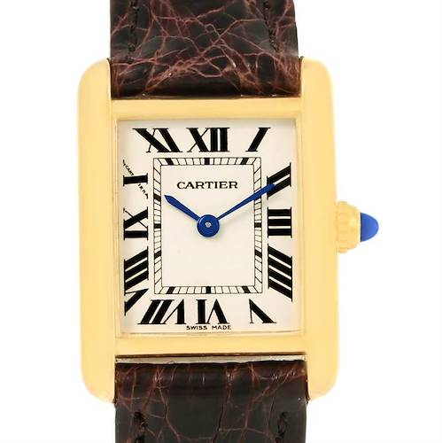 Photo of Cartier Tank Louis 18k Yellow Gold Ladies Watch W1529856 Box Papers