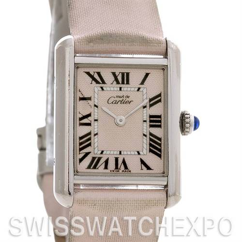Photo of Cartier Tank Louis Ladies Silver Platinum Plated Watch