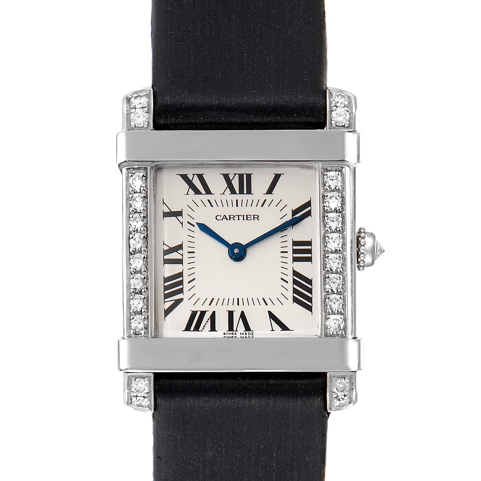 Cartier Tank Chinoise Platinum Diamond Ladies Watch 2755