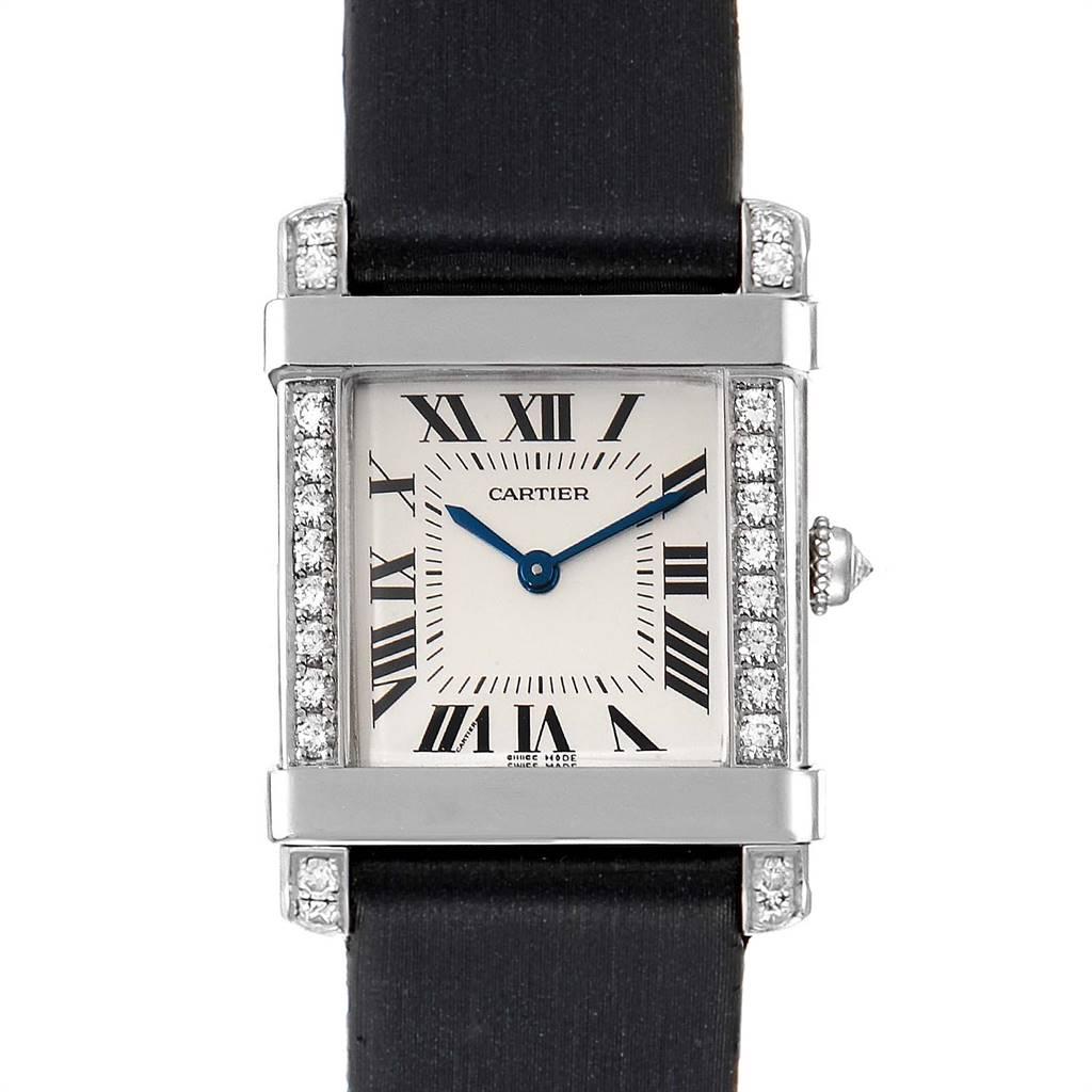 Cartier Tank Chinoise Platinum Diamond Ladies Watch 2755 SwissWatchExpo