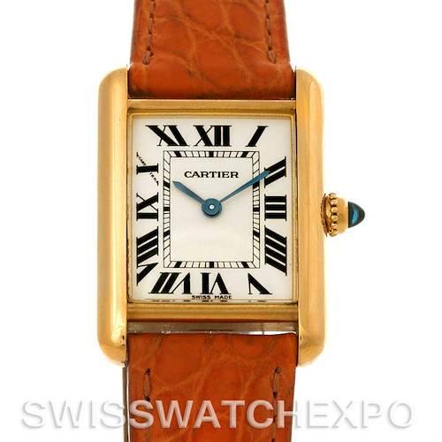 Photo of Cartier Tank Louis 18k Yellow Gold Ladies Quartz Watch W1529856
