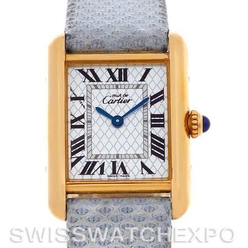 Photo of Cartier Tank Louis Silver Gold Plaque Ladies Quartz Watch 2415