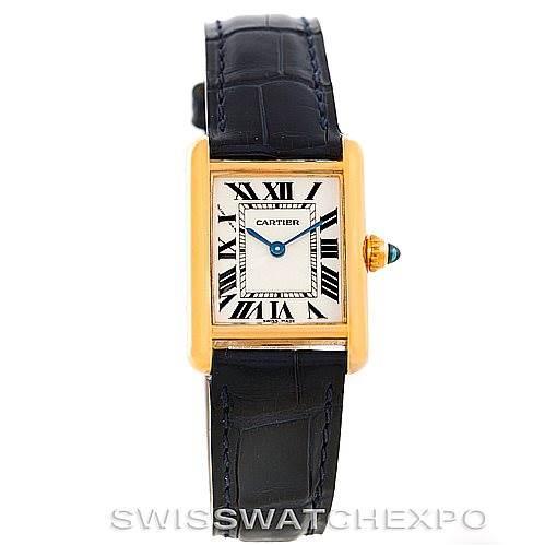 6156 Cartier Tank Louis 18k Yellow Gold Ladies Watch W1529856 SwissWatchExpo