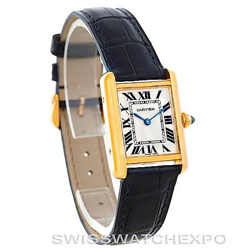6156 Cartier Tank Louis 18k Yellow Gold Ladies Watch W1529856 SwissWatchExpo