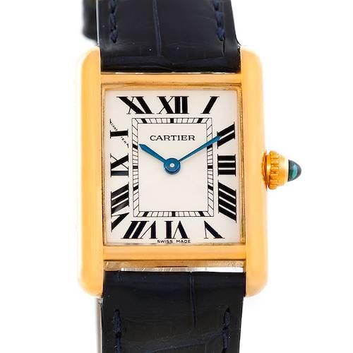 Photo of Cartier Tank Louis 18k Yellow Gold Ladies Watch W1529856
