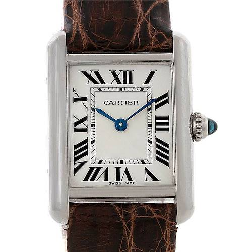 Photo of Cartier Tank Louis Small 18k White Gold Watch W1541056