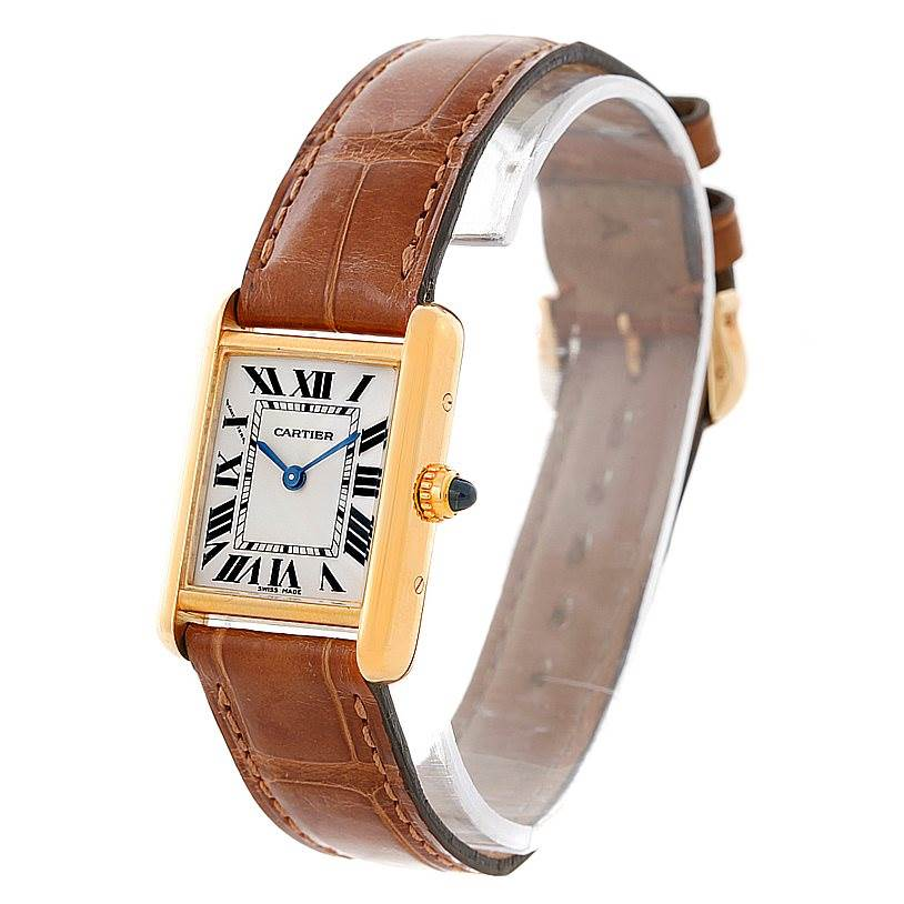 8430 Cartier Tank Louis 18k Yellow Gold Ladies Watch W1529856 SwissWatchExpo