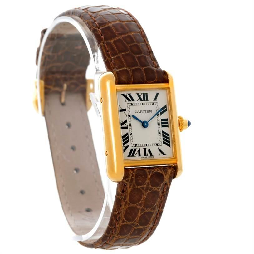 8792 Cartier Tank Louis 18k Yellow Gold Ladies Watch W1529856 SwissWatchExpo