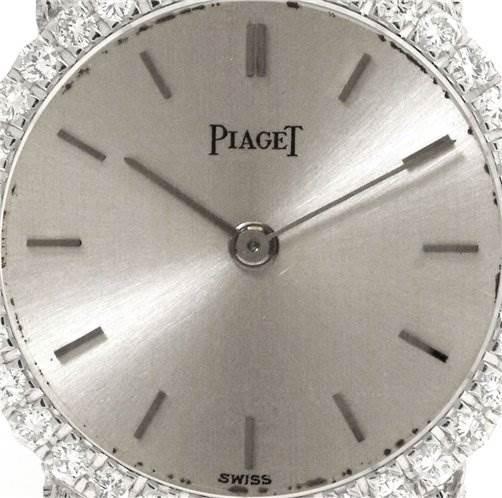 1103WP Piaget Vintage Ladies 18k White Gold Diamond Watch SwissWatchExpo