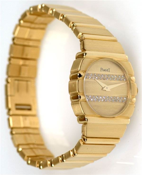 1055WPL Piaget Ladies 18k Gold Diamonds Polo 861c701 SwissWatchExpo