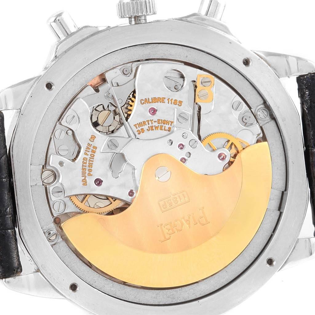 13206 Piaget Chronograph Gouverneur Platinum Salmon Dial Mens Watch 12978 SwissWatchExpo