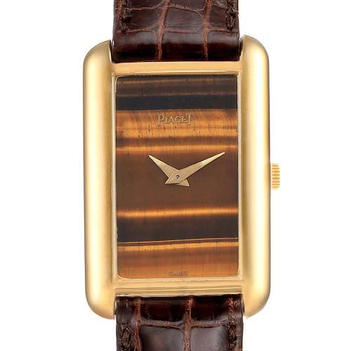 Photo of Piaget 18K Yellow Gold Tiger Eye Stone Dial Ladies Watch 9228
