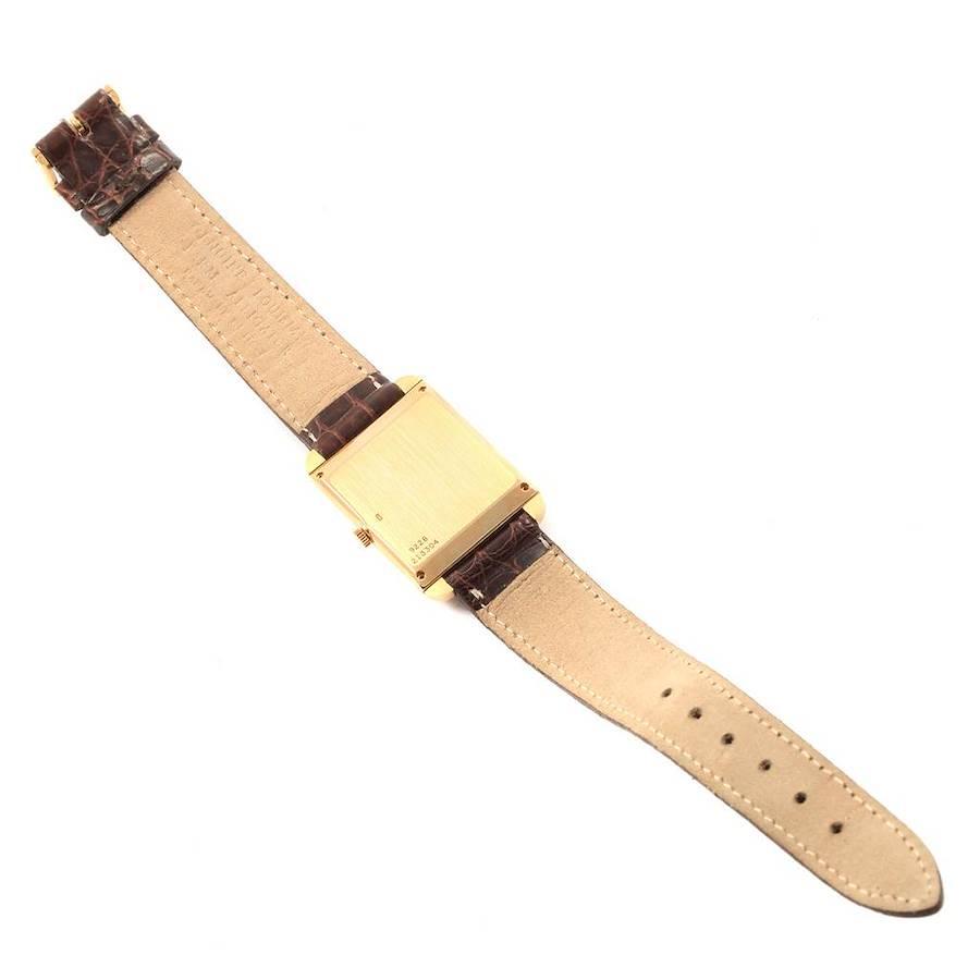 Piaget 18K Yellow Gold Tiger Eye Mechanical Ladies Watch 9228 SwissWatchExpo