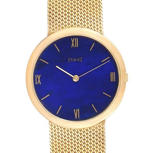 Photo of Piaget 18k Yellow Gold Lapis Lazuli Dial Vintage Mens Watch 902B11