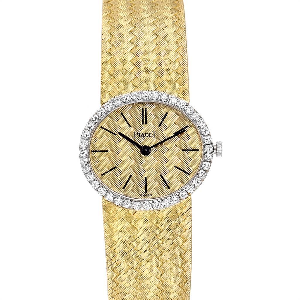 Photo of Piaget 18k Yellow Gold Diamond Ladies Watch 9806