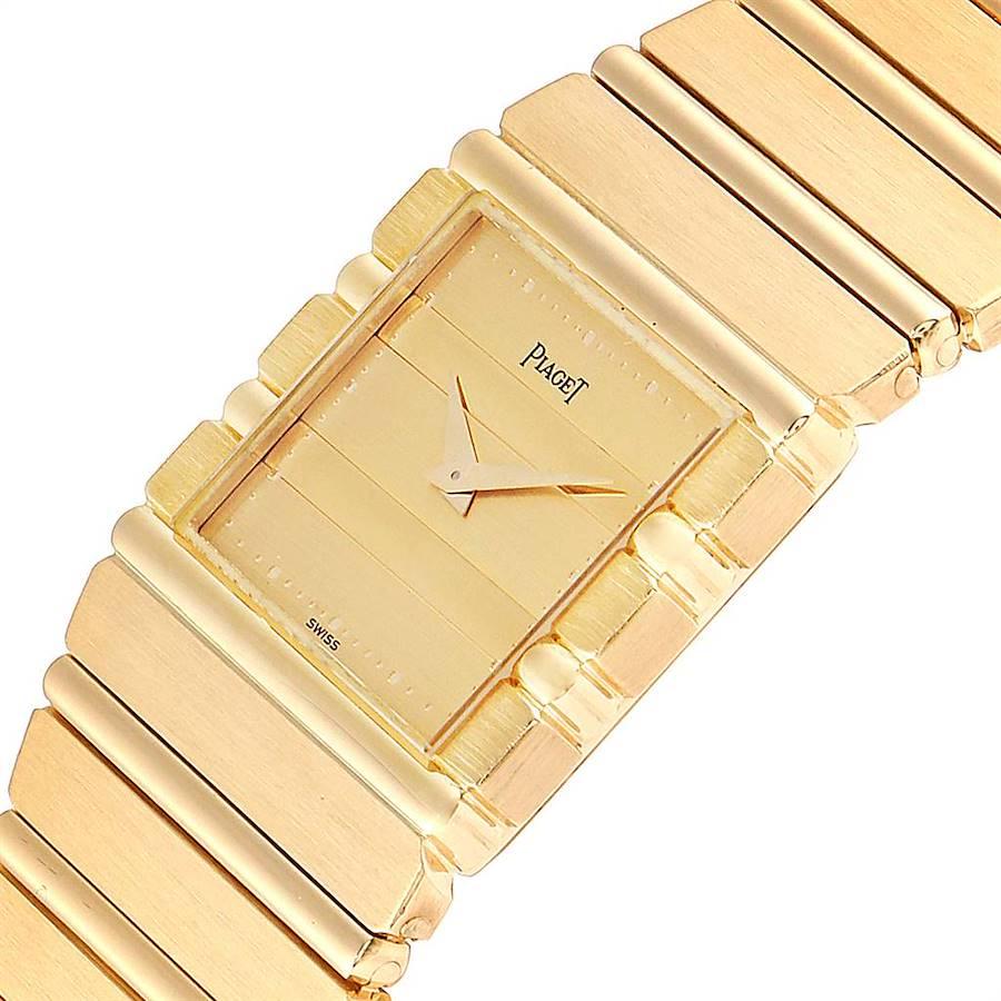 Piaget Polo 18K Yellow Gold Mens Watch 7131 SwissWatchExpo