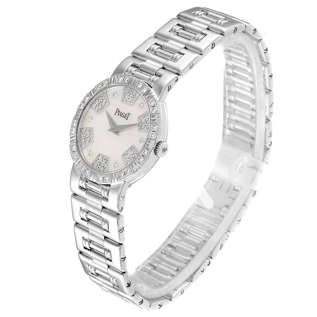 Piaget Dancer White Gold Mother of Pearl Diamond Ladies Watch 80564 SwissWatchExpo