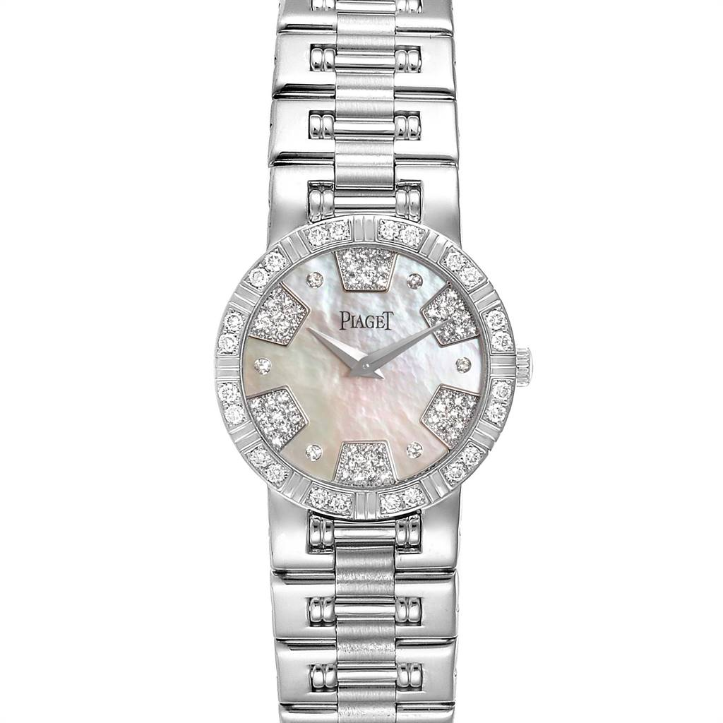 Photo of Piaget Dancer White Gold Mother of Pearl Diamond Ladies Watch 80564