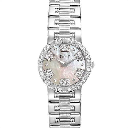 Piaget Dancer White Gold Mother of Pearl Diamond Ladies Watch 80564