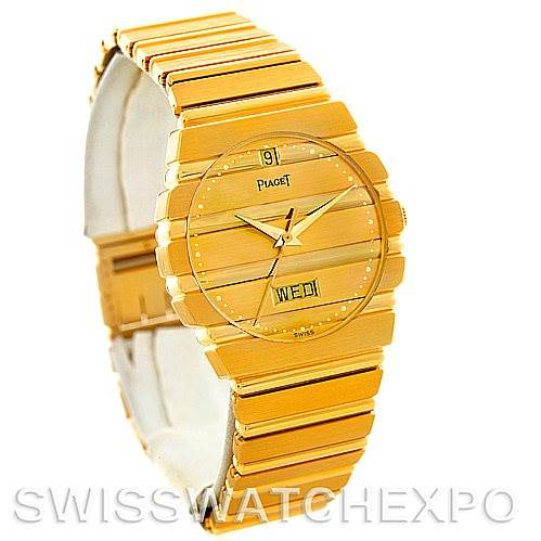 5717 Piaget Polo 18K Yellow Gold Day Date Mens Watch SwissWatchExpo