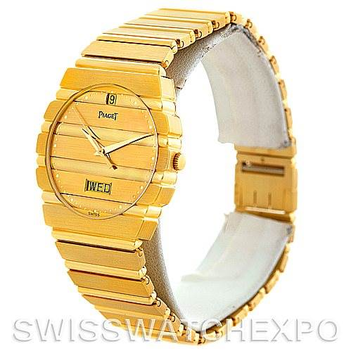 Piaget Polo 18K Yellow Gold Day Date Mens Watch SwissWatchExpo