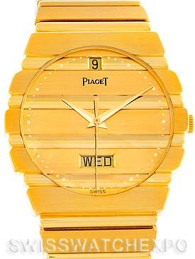 Photo of Piaget Polo 18K Yellow Gold Day Date Mens Watch