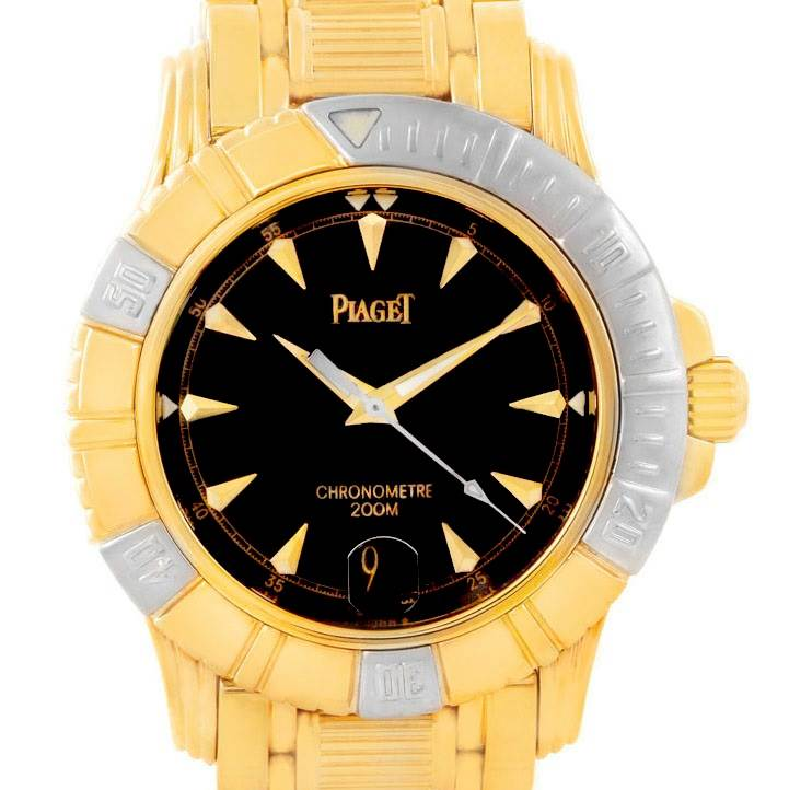 Piaget Polo Key Dive 18K Yellow and White Gold Mens Watch 25020 SwissWatchExpo
